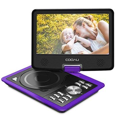 "3. COOAU 11.5"" Portable DVD Player"