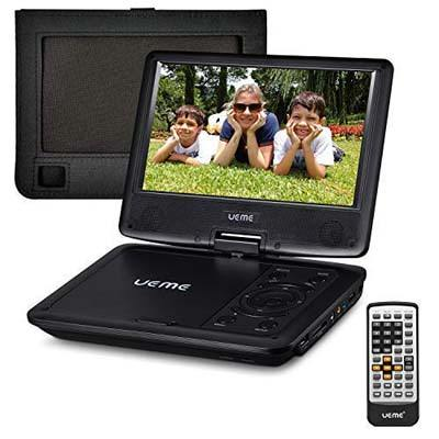 "8. UEME 9"" Portable DVD CD Player"