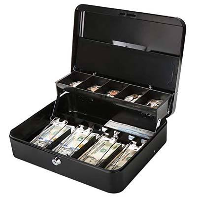 5. Jssmst Metal Cash Box with Lock