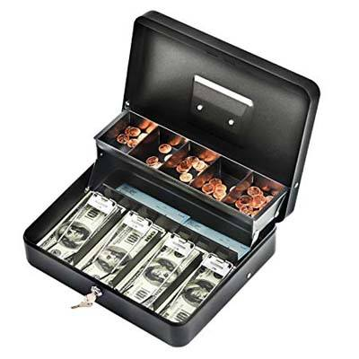 9. Infun Durable Cash Box