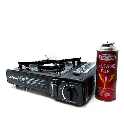 3. Gas ONE Portable Gas Stove GS-3000, Black