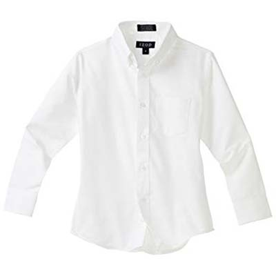 1. IZOD Solid Button Down Oxford Shirt