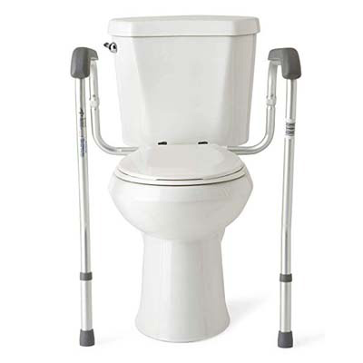 1. Medline Safety Frame for Toilet with Easy Installation