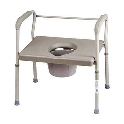 6. Duro-Med DMI Bedside Commode Chair