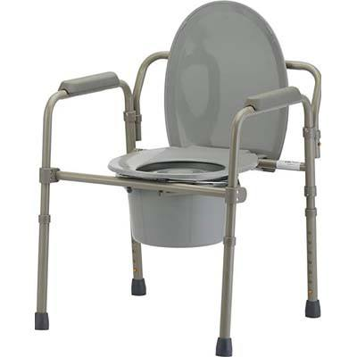 5. NOVA Medical Folding Commode, Comes with Splash Guard/Bucket/Lid
