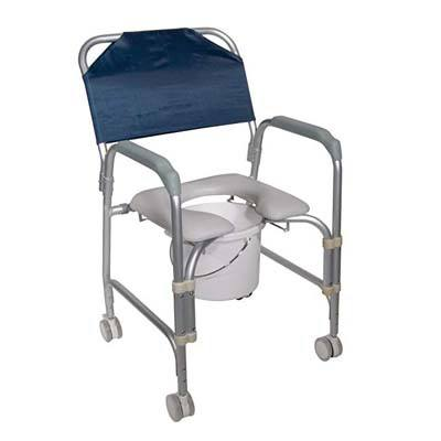 10. Drive Medical K.D. Aluminum Shower Chair/Commode with Casters
