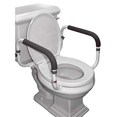 10. Carex Toilet Support Rail with Adjustable Width