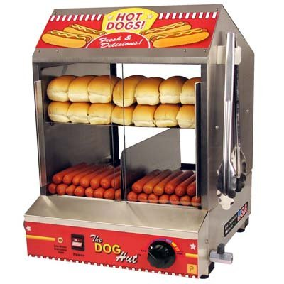 6. Paragon 8020 Hot Dog Hut Steamer Merchandiser