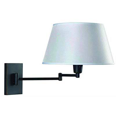 3. Kenroy Home 30100ORB Wall Swing Arm Lamp