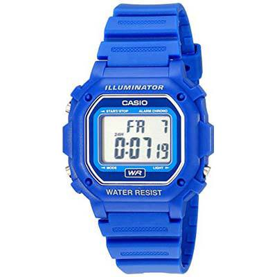 5. Casio Digital Blue Resin Strap Watch (F108WH)