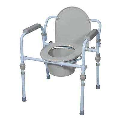 2. Drive Medical Bedside Commode Seat with Commode Bucket and Splash Guard