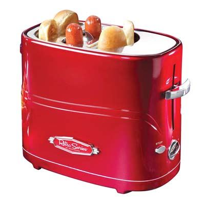 1. Nostalgia Retro Pop-Up Hot Dog Toaster