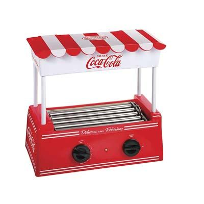 3. Nostalgia HDR565COKE Coca-Cola Hot Dog Roller and Bun Warmer