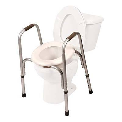 9. PCP Raised Toilet Seat and Safety Frame (Two-in-One)
