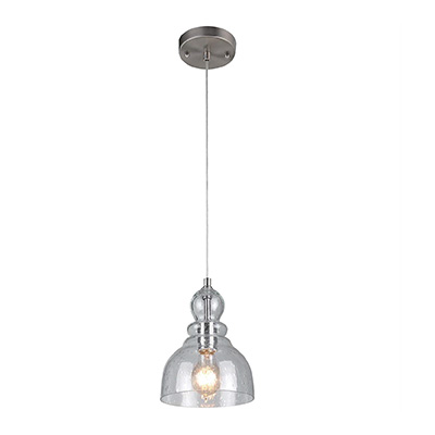 10. Westinghouse 6100700 One-Light Indoor Mini Pendant with Clear Seeded Glass