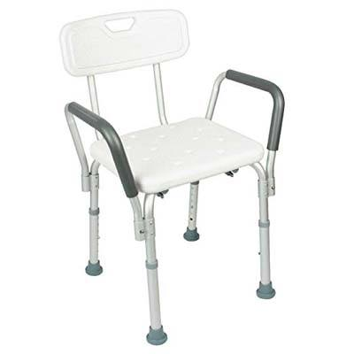 6. Vive Shower Chair with Back