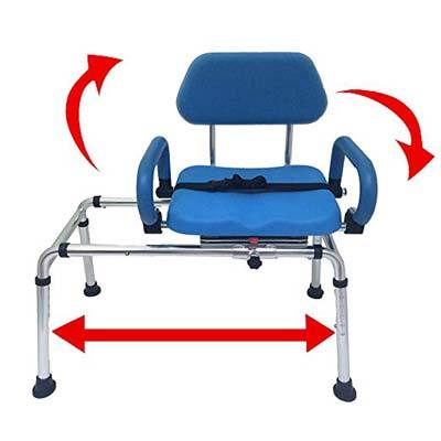 3. Platinum Health Sliding Transfer Bench with Swivel Seat