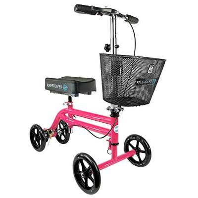 4. KneeRover Steerable Knee Walker – HOT PINK