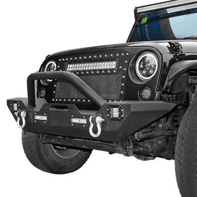 3. LEDKINGDOMUS Front Bumper for 87-06 Jeep Wrangler YJ and TJ