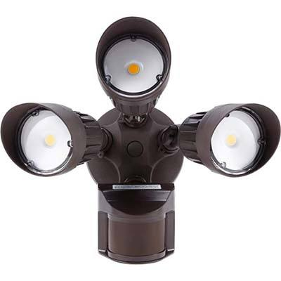 3. LEONLITE 30W 3-Head LED Outdoor Security Light