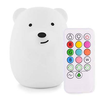 5. Lumipets Cute Animal Night Light with Touch Sensor and Remote