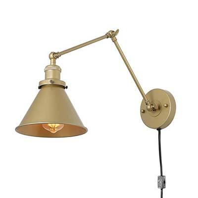 4. LNC Swing Arm Wall Lamp Adjustable Plug-in
