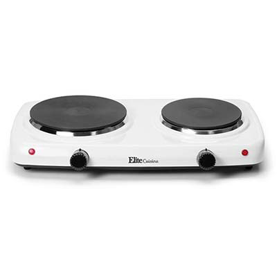 2. Elite Cuisine EDB-302F Hot Plate Burner (Double Electric)