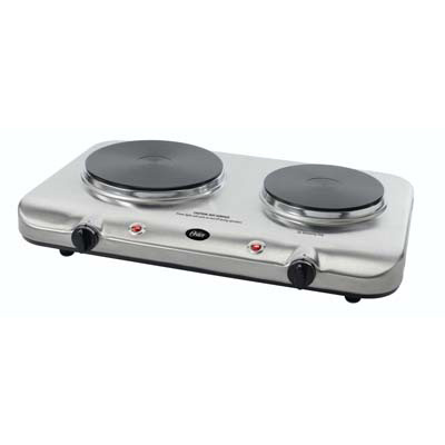 7. Oster Inspire CKSTBUDS00 Double Burner and Hot plate