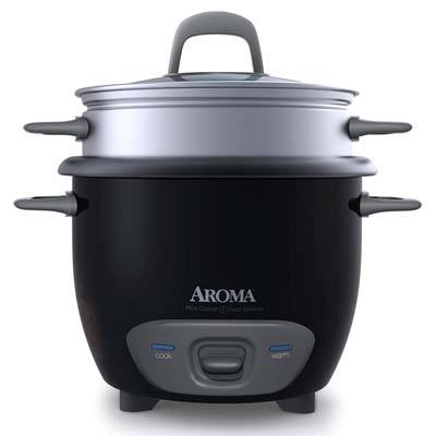 1. Aroma Housewares ARC-743-1NGB Rice Cooker and Food Steamer