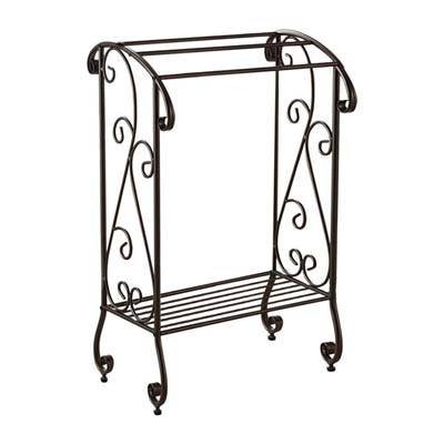 7. Kings Brand Furniture - Coffee Brown Towel Rack Stand
