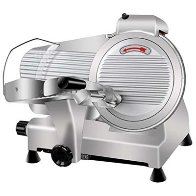 10. Super Deal Commercial Semi-Auto Meat Slicer