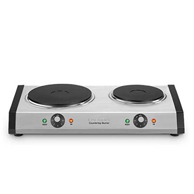3. Cuisinart CB-60 Cast-Iron Double Burner