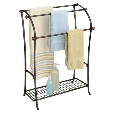 6. mDesign Freestanding Towel Rack Holder