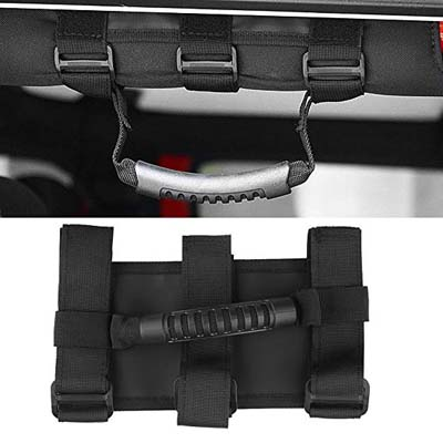 8. SUNPIE Roll Bar Grab Handle for Jeep Wrangler