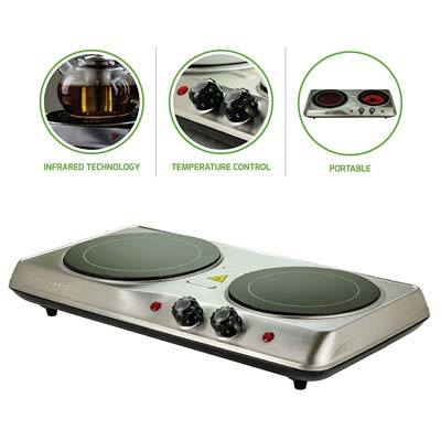 8. Ovente BGI102S Double Infrared Countertop Burners