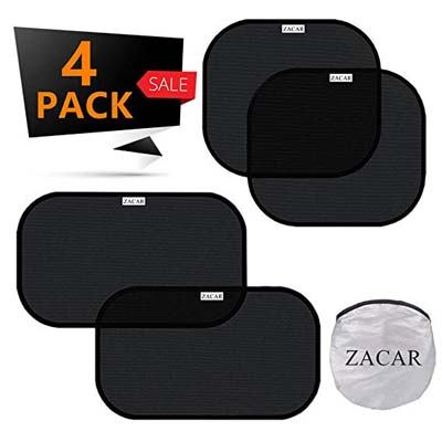 8. ZACAR Car Window Shade (4 Pack)