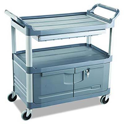 9. Rubbermaid Commercial Xtra Instrument and Utility Cart, FG409400GRAY