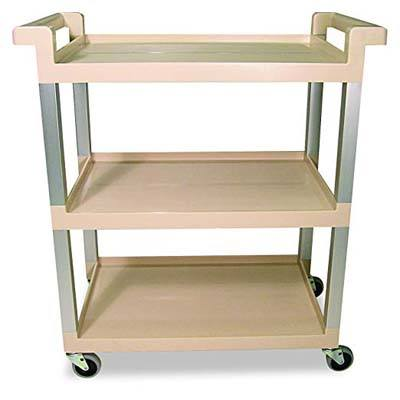 10. Rubbermaid Commercial 9T6571BG 3-Shelf Service Cart