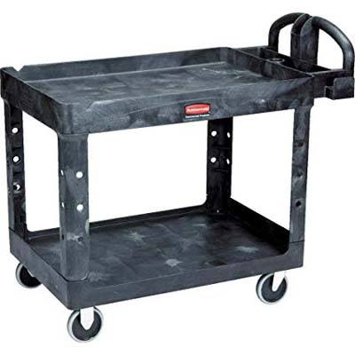 1. Rubbermaid Commercial Products 2- Shelf Utility Cart
