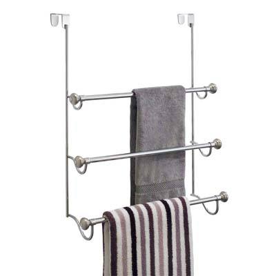 5. InterDesign York Over-the-Shower-Door Towel Rack