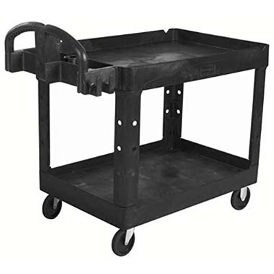 3. Rubbermaid Commercial Executive Series 2-Shelf Utility Cart