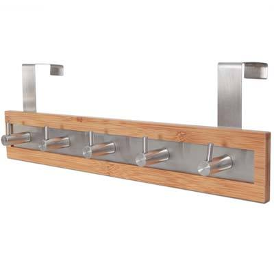 4. ToiletTree Products Bamboo Wood & Stainless Steel Towel Rack