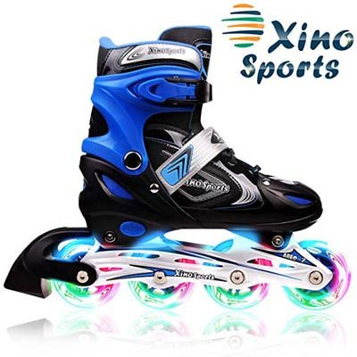 5. XinoSports Inline Roller Skates for Ages 5-20