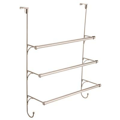 6. Franklin Brass 193153-FN Over-the-Door Triple Towel Rack