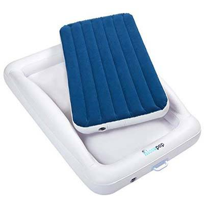 3. Hiccapop Inflatable Toddler Travel Bed
