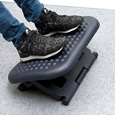 2. Mind Reader Foot Rest, Black