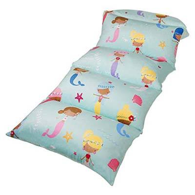 5. Butterfly Craze Kid's Floor Pillow Bed Cover