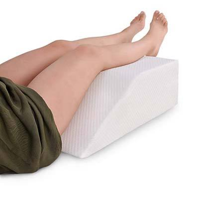 10. Abco Tech Elevating Leg Rest Memory Foam Pillow