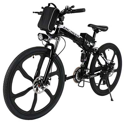 8. ANCHEER Folding Electric Mountain Bike