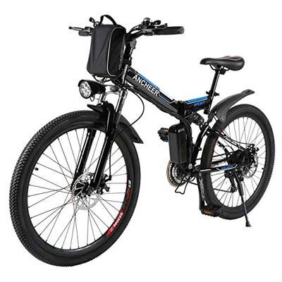 6. ANCHEER Folding Electric Mountain Bike